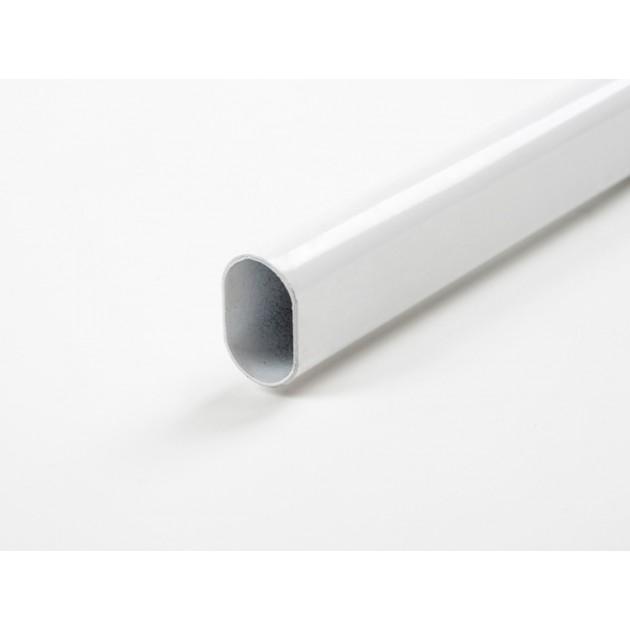 Штанга эмалированная белая дл.1м без держателей.